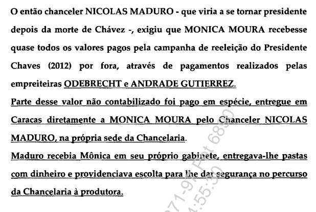 Parte de la declaración en poder de la Fiscalía a cargo del proceso. (Foto. Infobae)