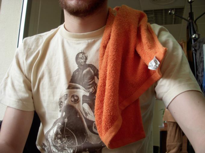 La toalla en el hombro es uno de los distintivos que no pueden faltan en la celebración. (Foto. La Arcadia de Urías)