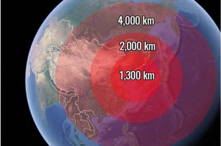 El primer avance norcoreano demostrado este año, alcanzaba a unos 4 mil kilómetros. (Imagen. Infobae)