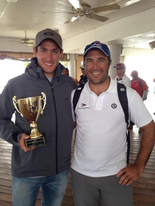 Maegli posa junto al trofeo obtenido tras quedarse con el segundo puesto en Florida.