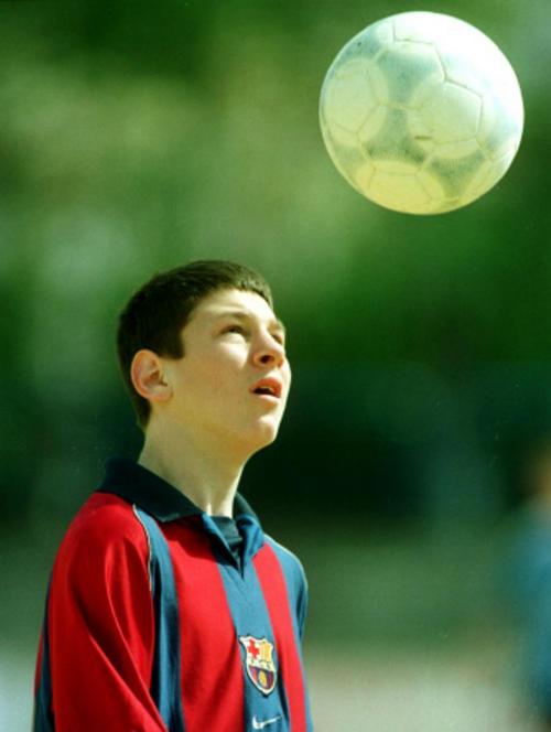 Lionel Messi llegó al Barcelona desde muy pequeño y se formó en las filas del club