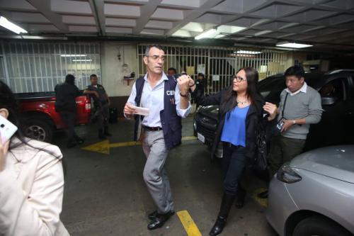 James Carvallo, presidente de la CIDH, en su recorrido por la Torre de Tribunales. (Foto: Andrés Girón/ Nuestro Diario)