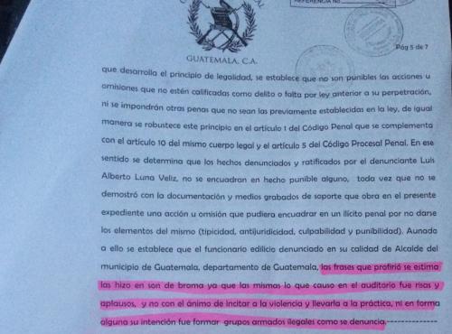Resolución de la Sala Segunda de la Corte de Apelaciones.