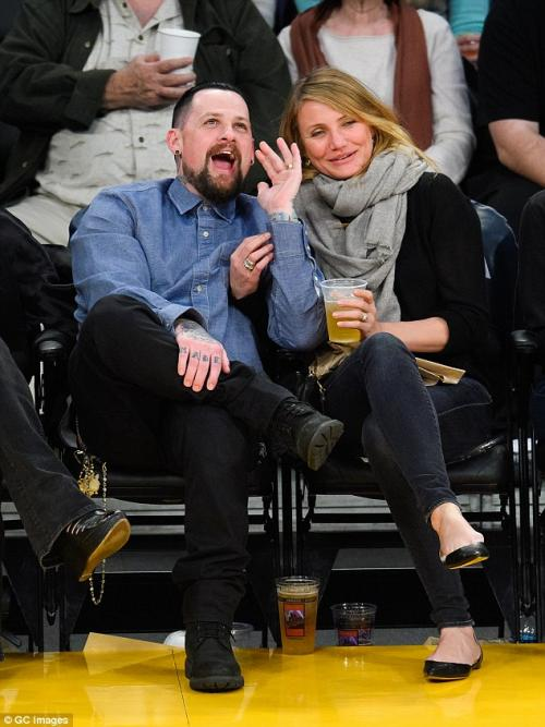 Cameron Diaz y Benji Madden. (Foto: Daily Mail)