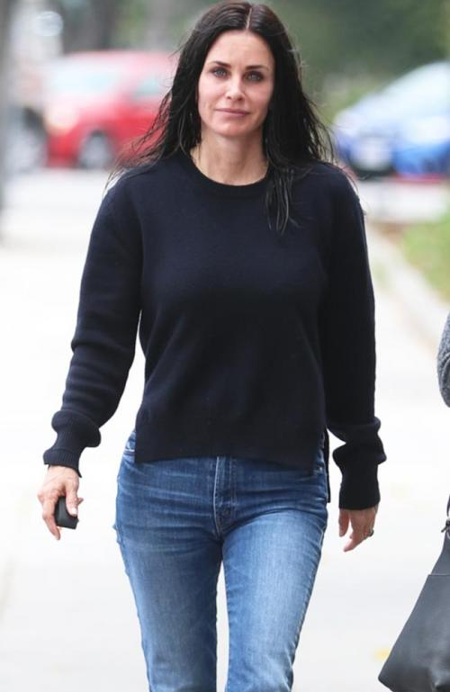 Courteney Cox luce natural y sin maquillaje. (Foto: www.news.com.au)