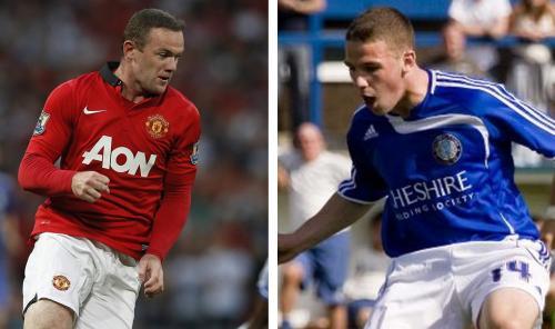 Wayne Rooney y su hermano John, otra pareja dispareja en el fútbol mundial. (Foto: Twitter)