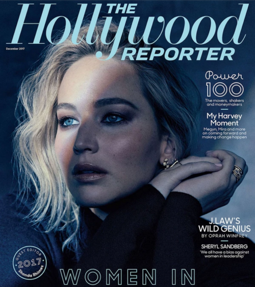 Portada donde apareció Lawrence. (Foto:  The Hollywood Reporter)