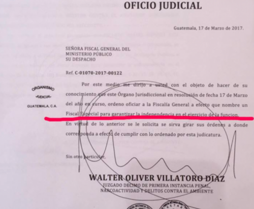 Resolución de Juzgado Décimo.