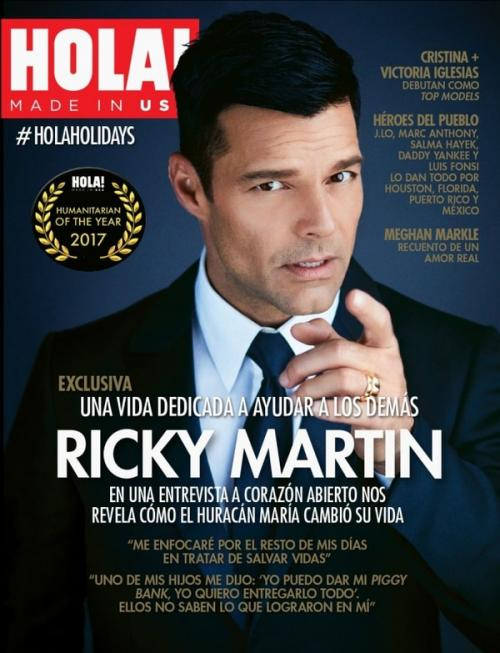 La portada de Ricky Martin como Humanitarian of the Year de HOLA! USA. (Foto: Archivo)