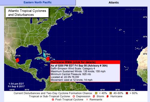 El huracán se localiza actualmente a unos 700 kilómetros de Florida. (Foto: NHC)