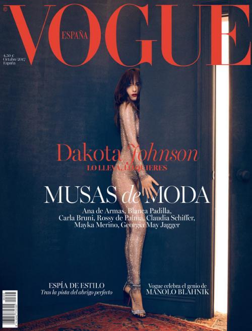 Dakota sale muy sensual en la portada de Octubre de Vogue España. (Foto: Vogue)