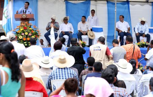 El acto se celebró el domingo en Los Amates. (Foto: Gobierno)