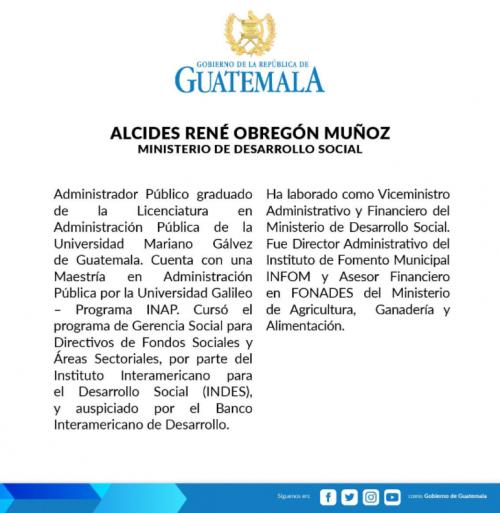 Comunicado del nombramiento de Obregón. (Foto: Gobierno)