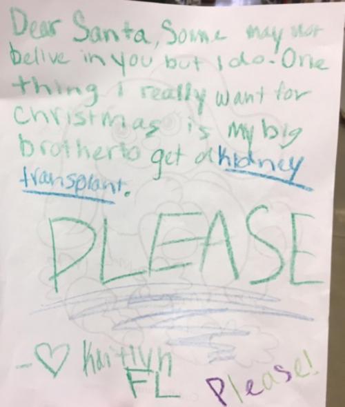 Esta fue la emotiva carta que la niña envió a Santa. (Foto: redes sociales)
