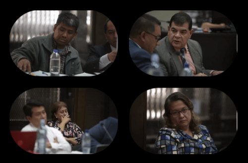 Por el caso Manipulación de Justicia están ligados a proceso: Mynor Macario Rojas, Rony López, Dora Bonilla Berger y Lesbia Montúfar. (Fotos: archivo/Soy502)
