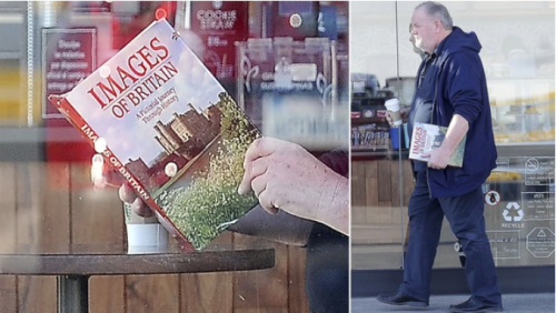 "Thomas Markle fue captado con el libro ""Images of Britain"". (Imágenes: The Grosby Group)"