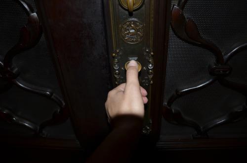 Ubico mandó a impregnar su huella digital en las manijas de las puertas del Palacio, (Foto: Selene Mejía/Soy502)