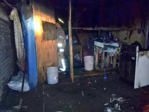 Así quedó la vivienda que se incendió. (Foto: Bomberos Voluntarios)