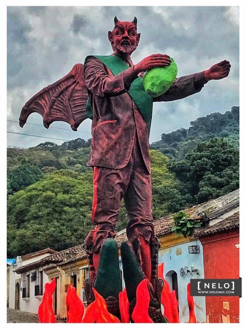 Así luce el diablo de El Barrio la Concepción en Antigua. (Foto: Nelo Mijangos)