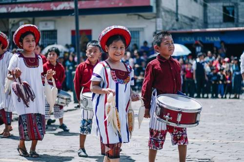 Los niños celebraron los 197 años de la independencia de Guatemala. (Foto: Juanito Damian)