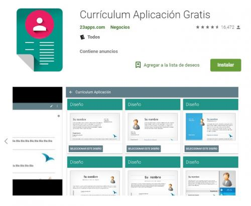 Al descargarla encontrarás decenas de plantillas modificables (Foto Google Play)