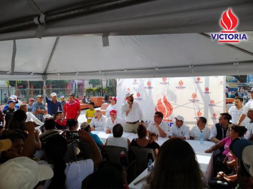 Amílcar Rivera, de Victoria, estuvo en Villa Nueva este fin de semana. (Foto: Victoria)