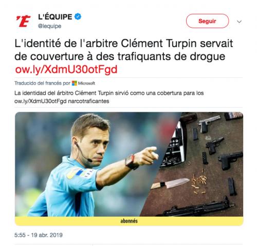 Narcos usurparon identidad del árbitro que pitó el Juventus-Ajax