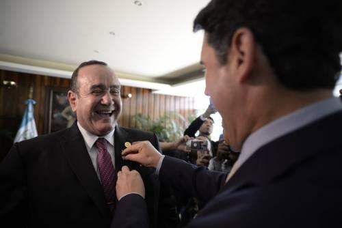 El presidente electo Alejandro Giammattei se reunió este miércoles con el alcalde de la ciudad, Ricardo Quiñónez. (Foto: Wilder López/Soy502)
