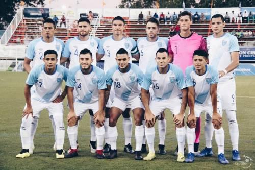 El once titular de Guatemala para el juego ante República Dominicana. (Foto: Fedefut)