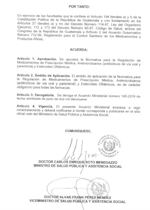 El acuerdo entró en vigencia el 7 de agosto y se está enviando la información a las distintas farmacias. (Foto: Captura de pantalla)