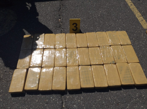 Los paquetes de cocaína no tenían la tradicional marca. (Foto: PNC)