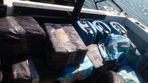 Los paquetes eran transportados en costales. (Foto: MP)