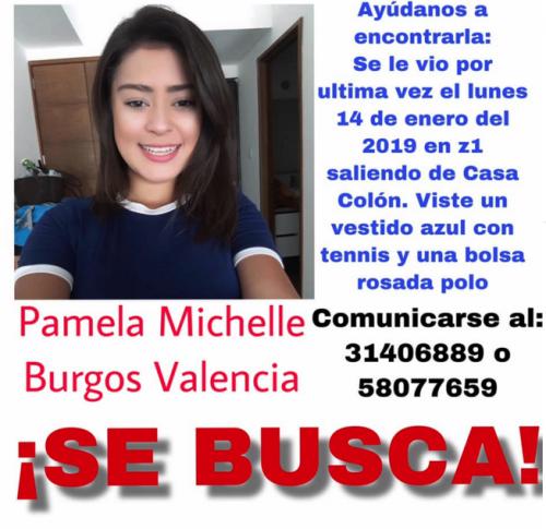 Así se comparte la información de la desaparecida en redes sociales. (Foto: captura pantalla)