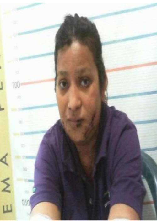 Mirna Juárez fue capturada cuando huía luego de hacer explotar una bomba casera en la colonia Quinta Samayoa. (Foto: Soy502)