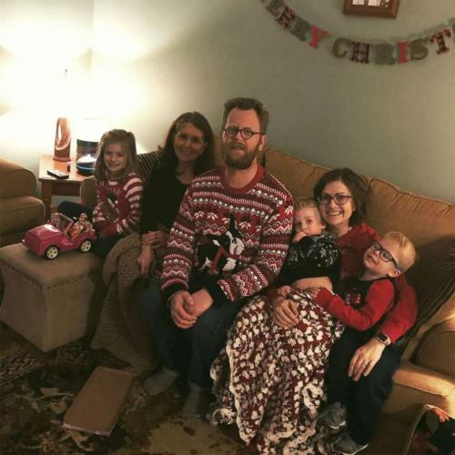 Wyatt con su familia. (Foto:Good Morning America)
