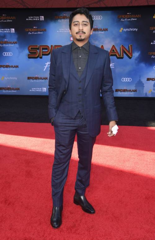 Tony Revolori en la alfombra roja de Spiderman: Far from home. (Foto: AFP)