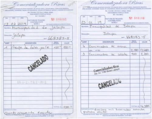 El traspiés en el correlativo de las facturas. (Foto: Soy502)