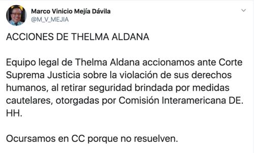 Marco Vinicio Mejía se presenta como uno de los abogados defensores de Thelma Aldana.