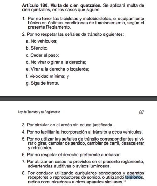 La infracción por la que Giordano debe ser multado. (Foto: captura pantalla)
