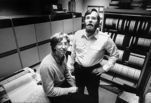 Bill Gates y Paul Allen en 1981. (Foto: Jim Hallas)