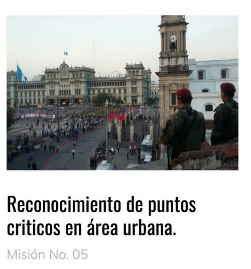 La Guardia Presidencial en tareas de reconocimientos llamados puntos críticos. (Foto: captura de pantalla www.guardiapresidencial)