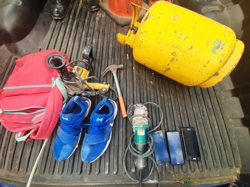 Los objetos robados. (Foto: PNC)