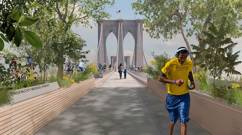 "Plano del proyecto guatemalteco ""Brooklyn Bridge Project"". (Ilustración: Brooklyn Bridge Forest)"