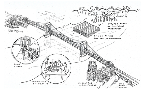 Planos del proyecto. (Ilustración Brooklyn Bridge Forest)
