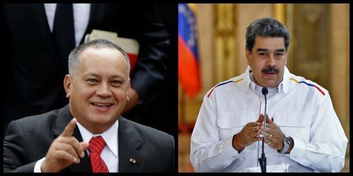 Diosdado Cabello y Nicolás Maduro. (Fotos: AFP)
