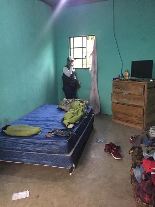 Vista de la habitación del hombre capturado. (Foto: MP)