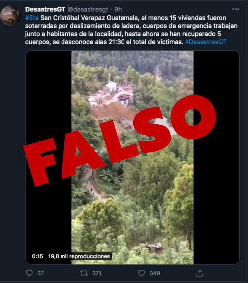 Esta publicación circuló en Guatemala. (Foto: Twitter)