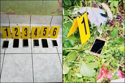 Estos son los celulares incautados en allanamientos por el caso del asesinato del juez en Petén. (Fotos: MP)