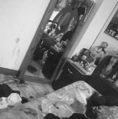 La habitación donde fue encontrada Criss Mazariegos.