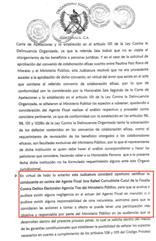 La jueza Erika Aifán denunció al fiscal Rafael Curruchiche.